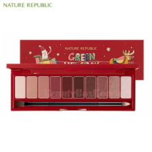 NATURE REPUBLIC Pro Touch Shadow Palette 10g [Green Holiday Edition]